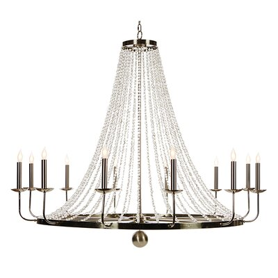Naples Candle-Style Chandelier Size: 33.5 H x 40 W x 40 D
