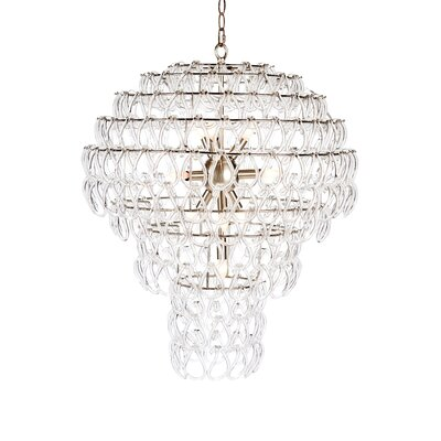 Jelly Fish Crystal Chandelier Finish: Nickel