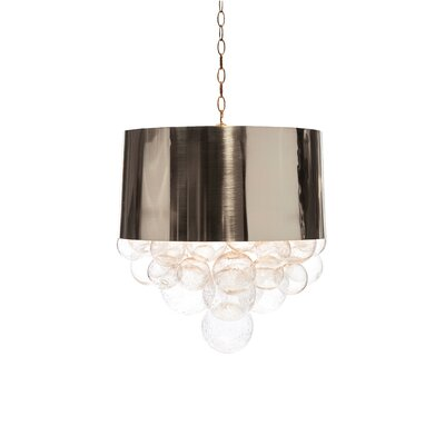 Orb Fanning Drum Pendant Shade Color: Mirrored Nickel