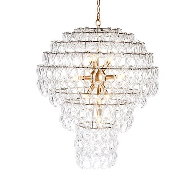Jelly Fish Crystal Chandelier Finish: Antique Brass