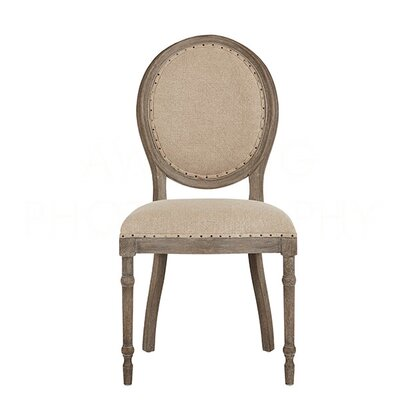 Grace Upholstered Dining Chair Color: Nantucket Gray/Texture Line