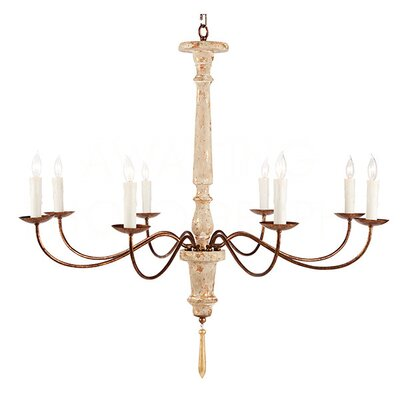 Italian 8-Light Candle-Style Chandelier