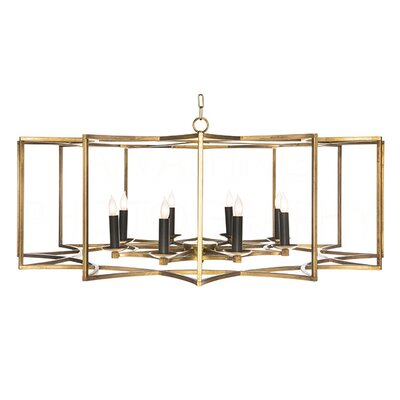 Chan Geo Candle-Style Chandelier Finish: Gold