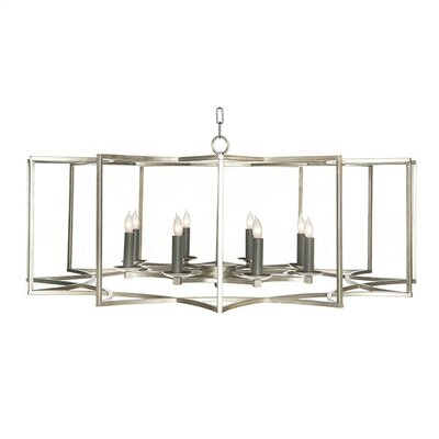 Chan Geo Candle-Style Chandelier Finish: Silver