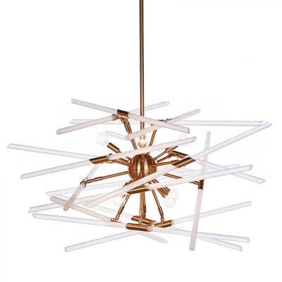 Solitude Sputnik Chandelier Finish: Brass