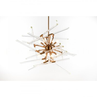 Solitude Sputnik Chandelier Finish: Brass