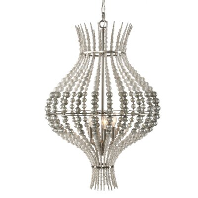 Grand Onion Mini Pendant Finish: Rustic White/Silver Leaf/Nickel Plated Finish