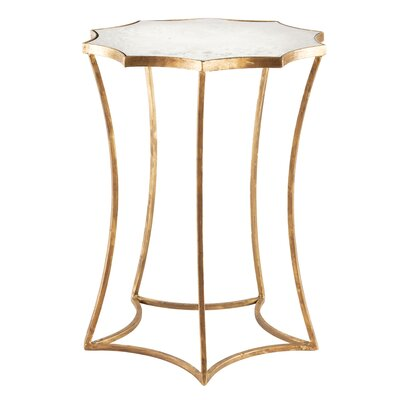 Astre End Table Table Base Color: Gold Leaf