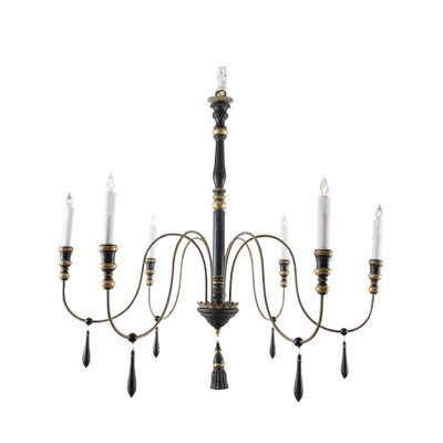 6-Light Candle-Style Chandelier Size: 39.5 H x 43.75 W x 43.75 D