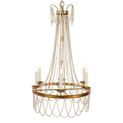Amber Candle-Style Chandelier Finish: Rustic White