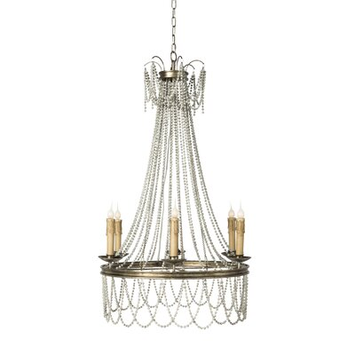 Amber Candle-Style Chandelier Finish: Rustic Gray/Antique Silver Leaf