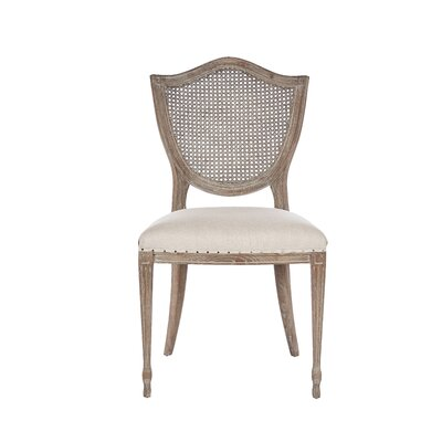 Shield Cane Back Dining Chair Upholstery Color: Burnt Oak, Frame Color: Rustic