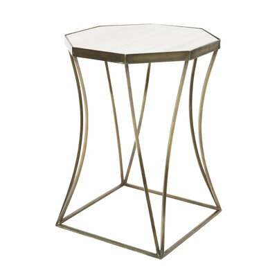 Cuadrado End Table Table Base Color: Antique Brass