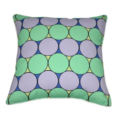 Bubbly Cotton Throw Pillow Color: Mint, Lavender, Yellow, Blue and White