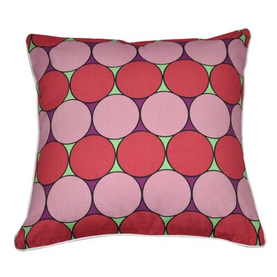 Bubbly Cotton Throw Pillow Color: Light Pink, Dark Pink, Mint, Purple and White