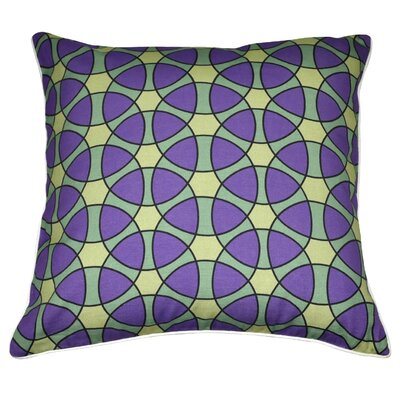 Jessica Decorative Cotton Throw Pillow Color: Purple / Green / Olive / White