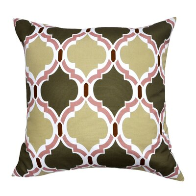 Damask Decorative Throw Pillow Color: Green