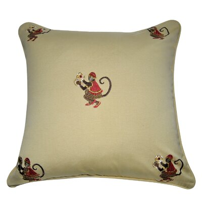 Decorative Cotton Throw Pillow Color: Khaki, Brown, Red, Silver and Gold