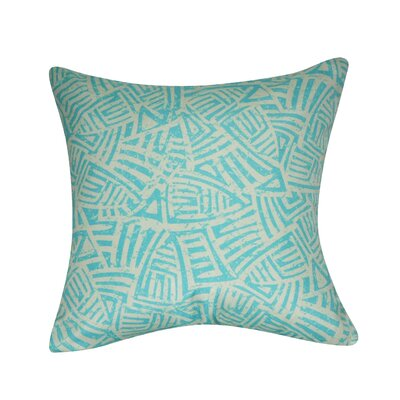 Aztec Decorative Throw Pillow Color: Seafoam
