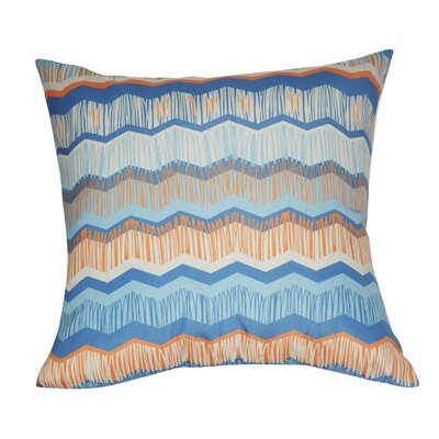 Chervon Decorative Throw Pillow Color: Blue