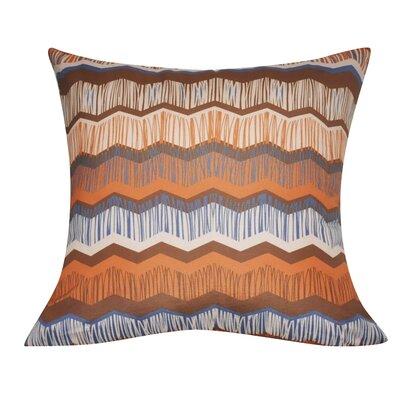 Chervon Decorative Throw Pillow Color: Orange