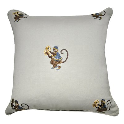 Decorative Cotton Throw Pillow Color: Linen, Brown, Blue and Gold