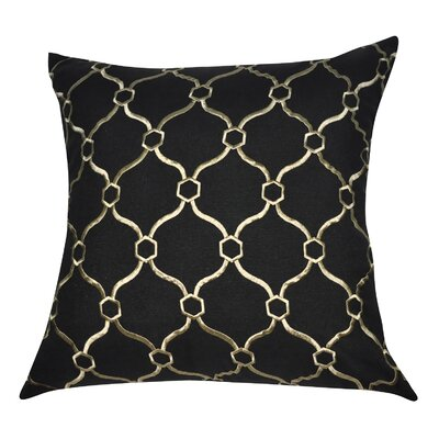 Decorative Throw Pillow Color: Black and Gold