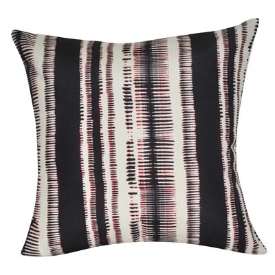 Stripe Decorative Throw Pillow Color: Black