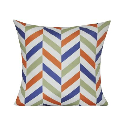 Chervon Decorative 100% Polyester Throw Pillow Color: Orange