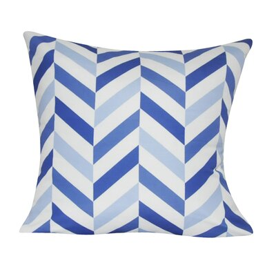 Chervon Decorative 100% Polyester Throw Pillow Color: Blue
