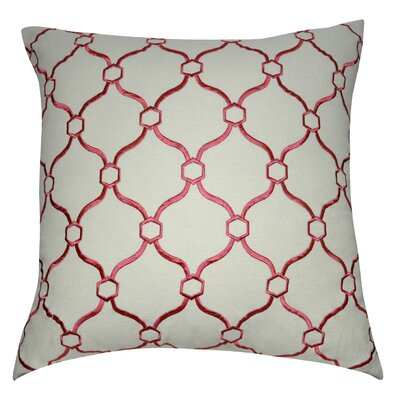 Decorative Throw Pillow Color: Cream and Dark Pink