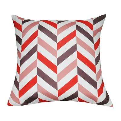 Chervon Decorative 100% Polyester Throw Pillow Color: Coral