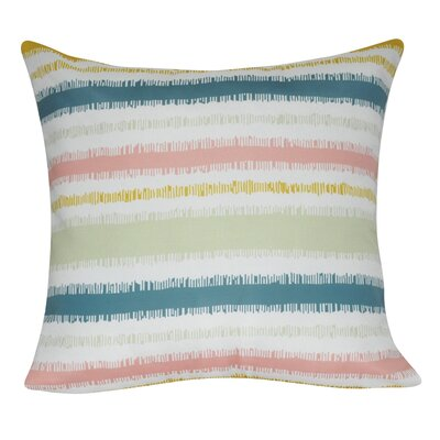 Stripe Decorative Throw Pillow Color: Pink