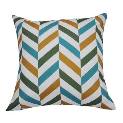 Chervon Decorative Throw Pillow Color: Dark Green