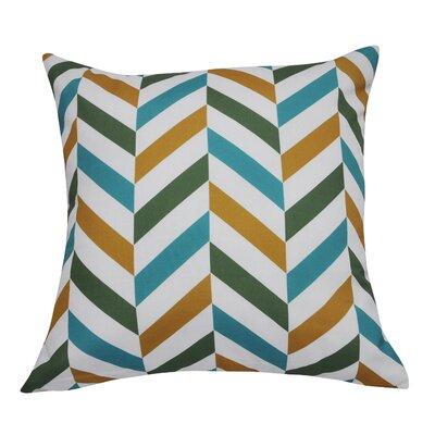 Chervon Decorative 100% Polyester Throw Pillow Color: Dark Green