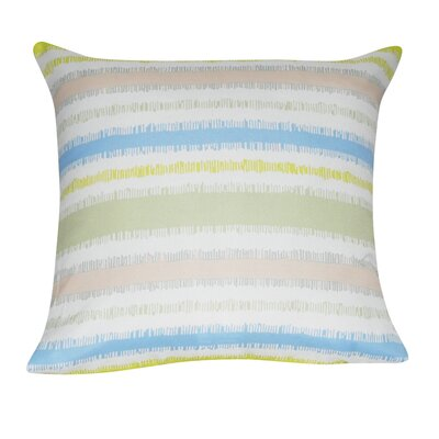 Stripe Decorative Throw Pillow Color: Lime