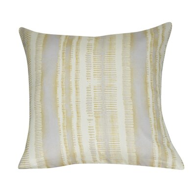 Stripe Decorative Throw Pillow Color: Yellow