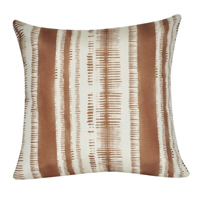 Stripe Decorative Throw Pillow Color: Brown
