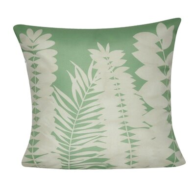 Leaf Decorative II Throw Pillow Color: Green