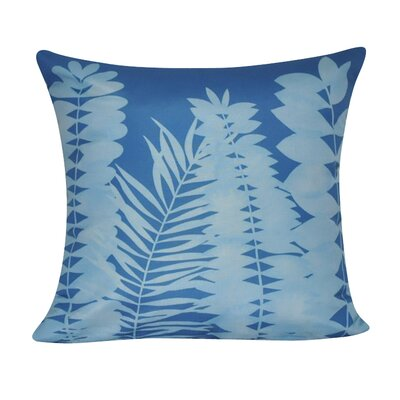 Leaf Decorative Throw Pillow Color: Dark Blue