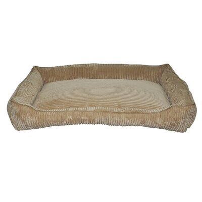 Corduroy Walled Dog Bed Color: Tan