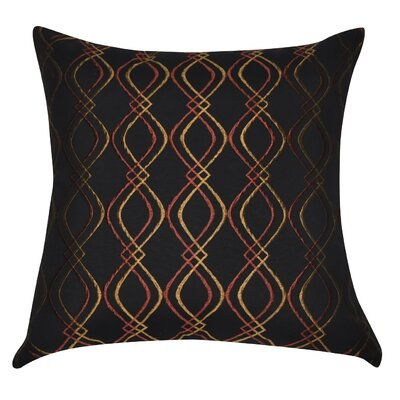 Decorative Cotton Throw Pillow Color: Black, Rust and Yellow