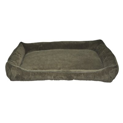Corduroy Walled Dog Bed Color: Dark Green