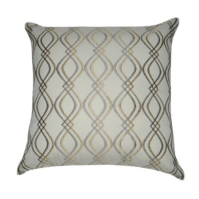 Decorative Cotton Throw Pillow Color: Cream, Taupe and Tan
