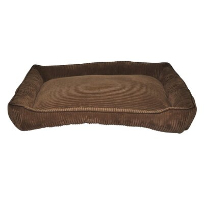 Corduroy Walled Dog Bed Color: Dark Brown