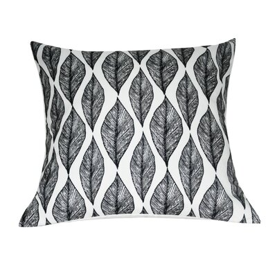 Leaf Decorative Throw Pillow Color: Black