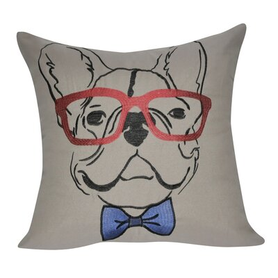 Dog Decorative Throw Pillow Color: Dark Tan