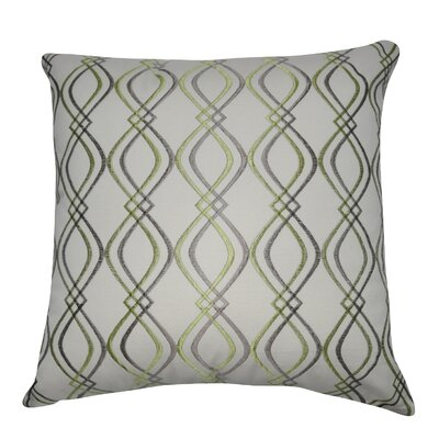 Decorative Cotton Throw Pillow Color: Cream, Taupe and Green