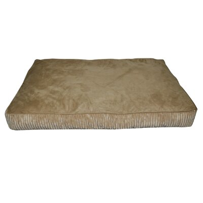 Corduroy Rectangle Dog Bed Color: Brown