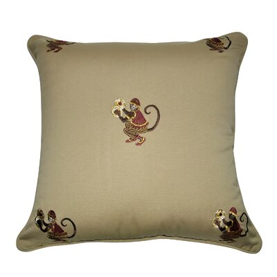 Decorative Cotton Throw Pillow Color: Tan, Brown, Red, Silver and Gold